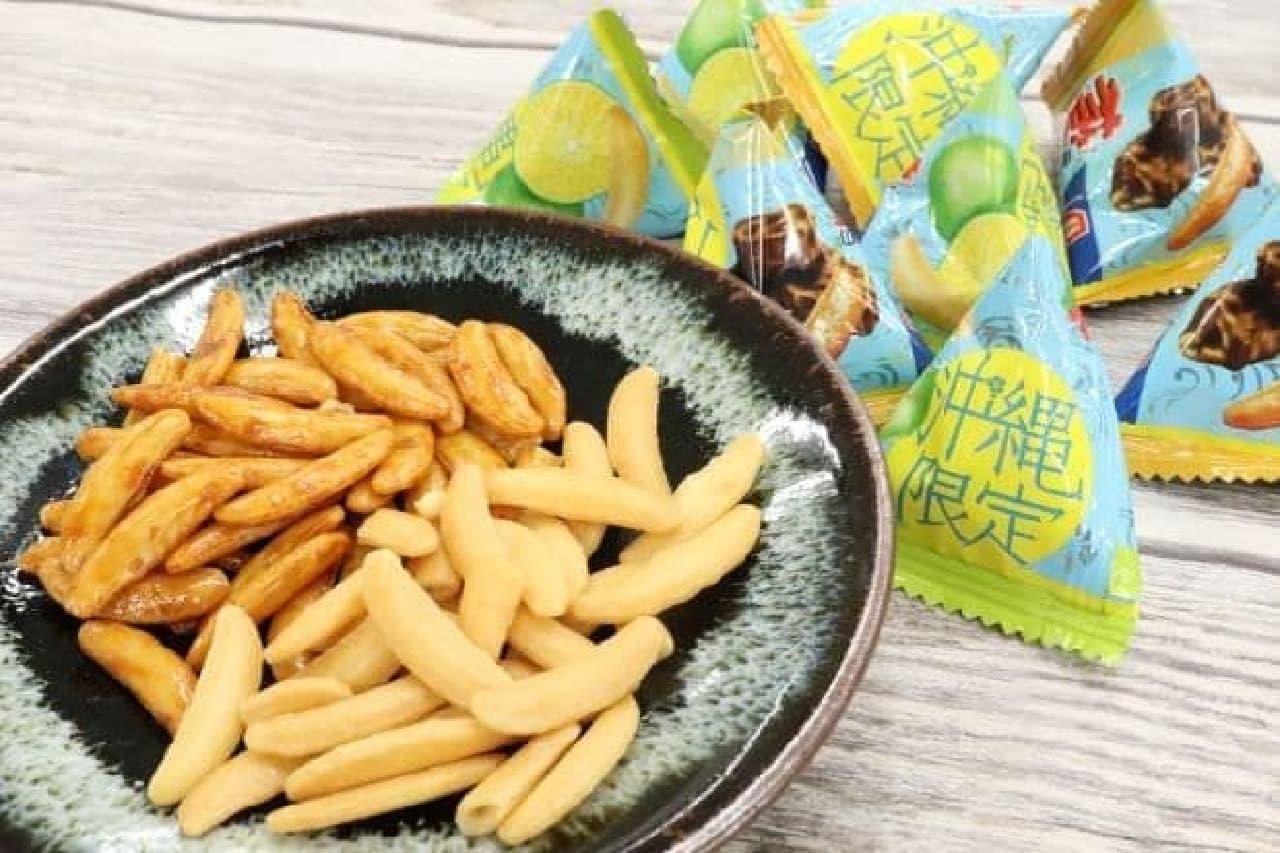 沖縄限定「亀田の柿の種 シークヮーサー味&黒糖味」