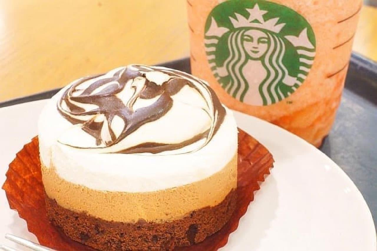 スターバックス「マーブルチョコレートケーキ」