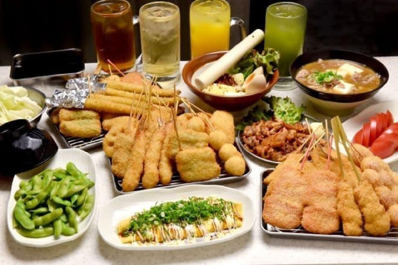 串カツ田中の「食べ放題」が通年コースに