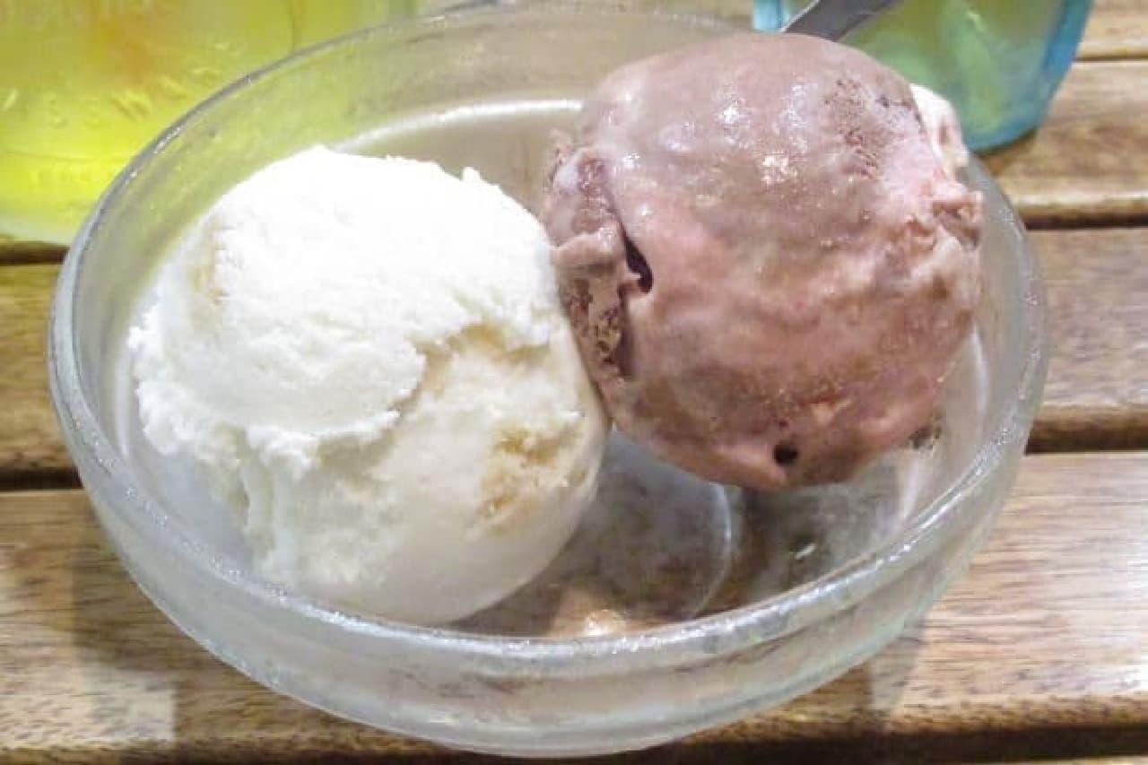 ブルーシールアイスの盛り合わせ