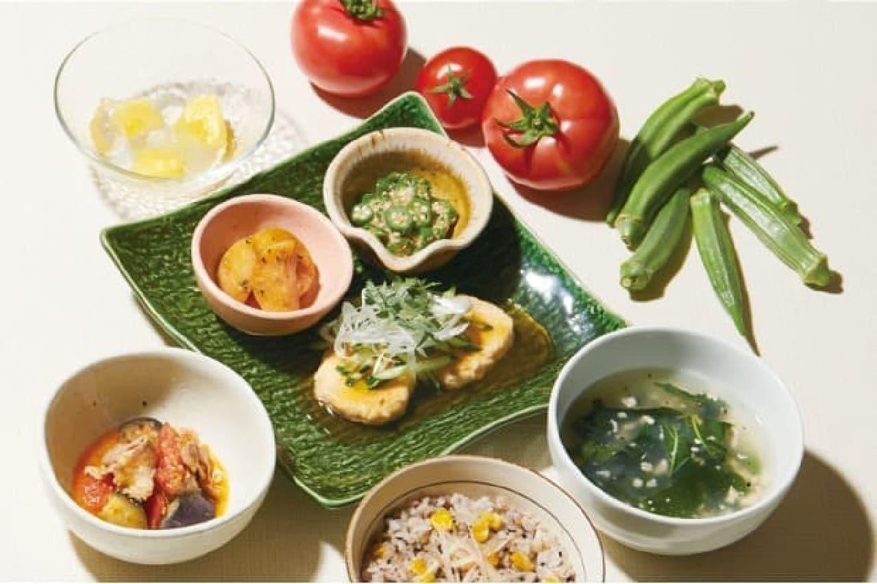大戸屋の「夏ベジ味わい膳」