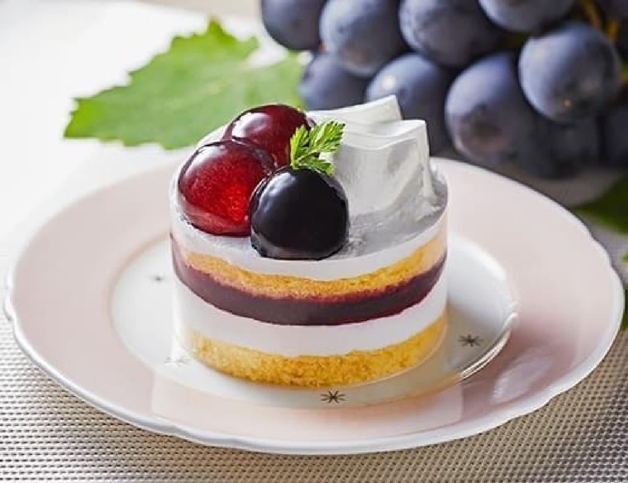 ローソン「ぶどうのショートケーキ」