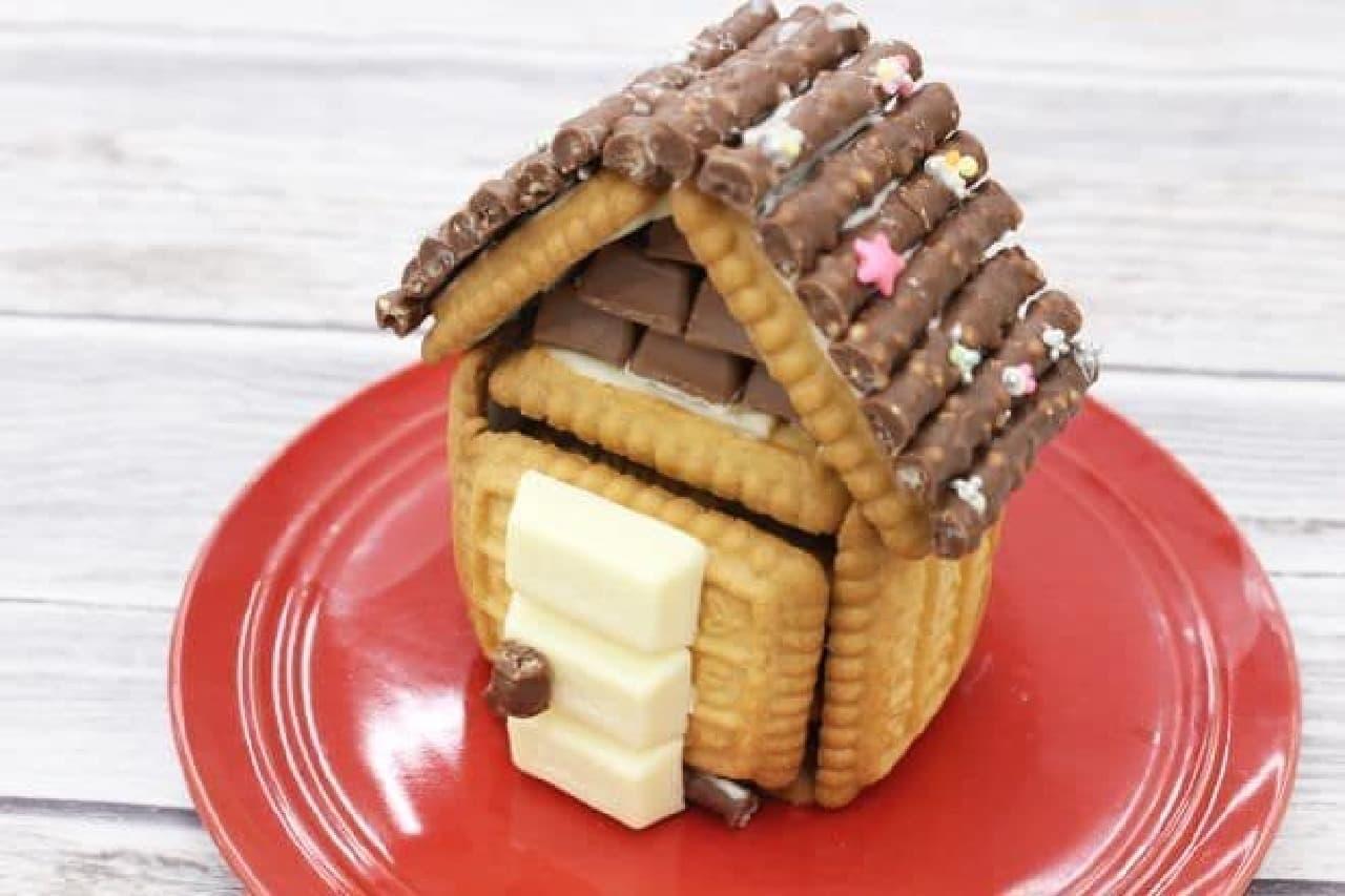 「おかしなおかしの家てづくりキット」の組み立て
