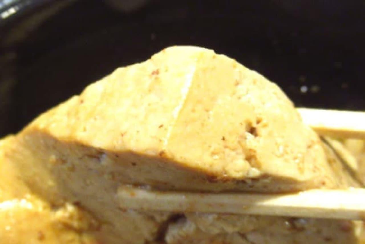 肉飯に入っている豆腐