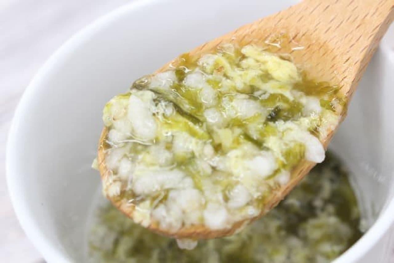 無印良品「しらすと海苔の卵雑炊」