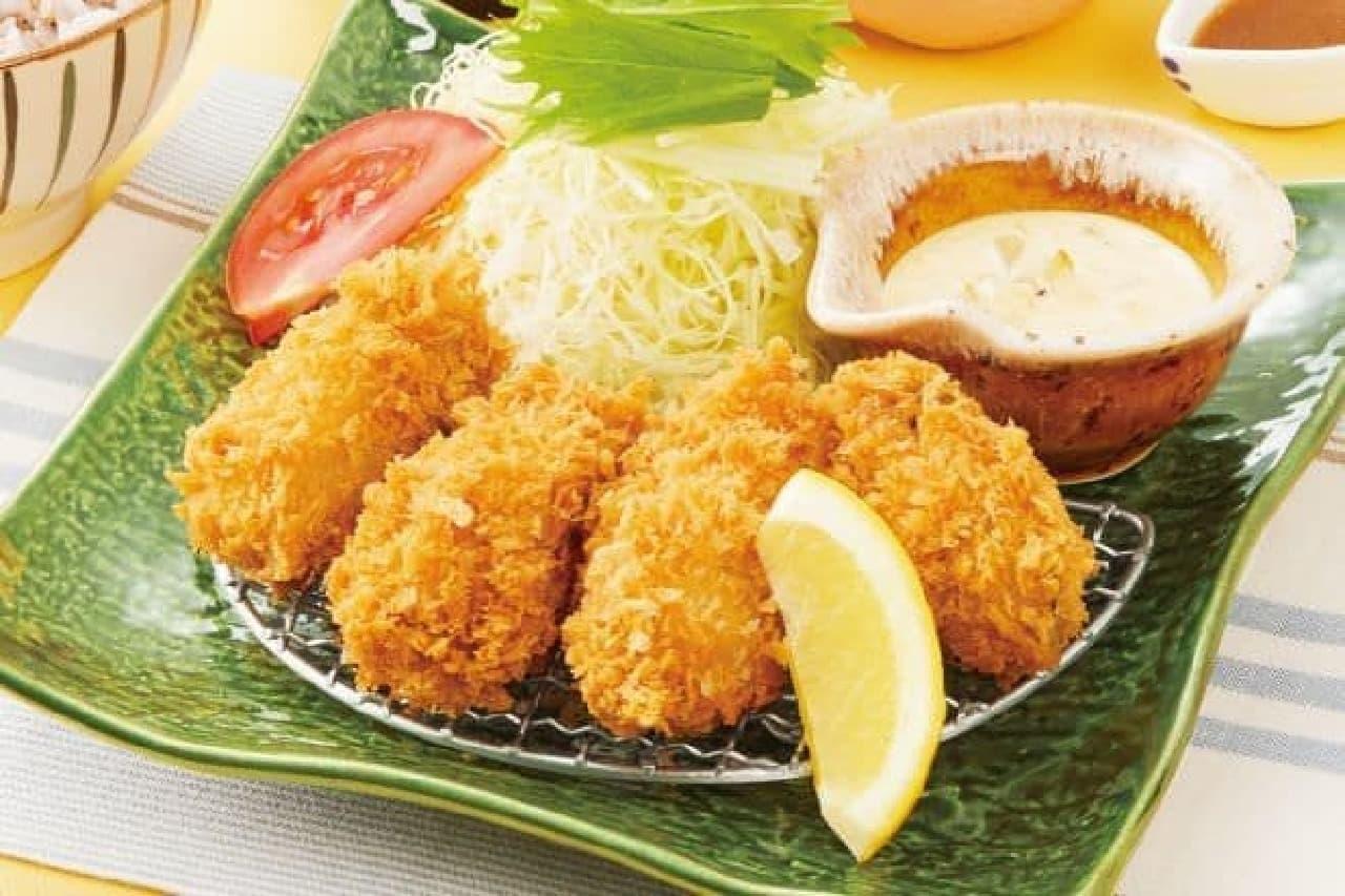 大戸屋「手作りタルタルソースで食べる 広島産かきフライ定食」