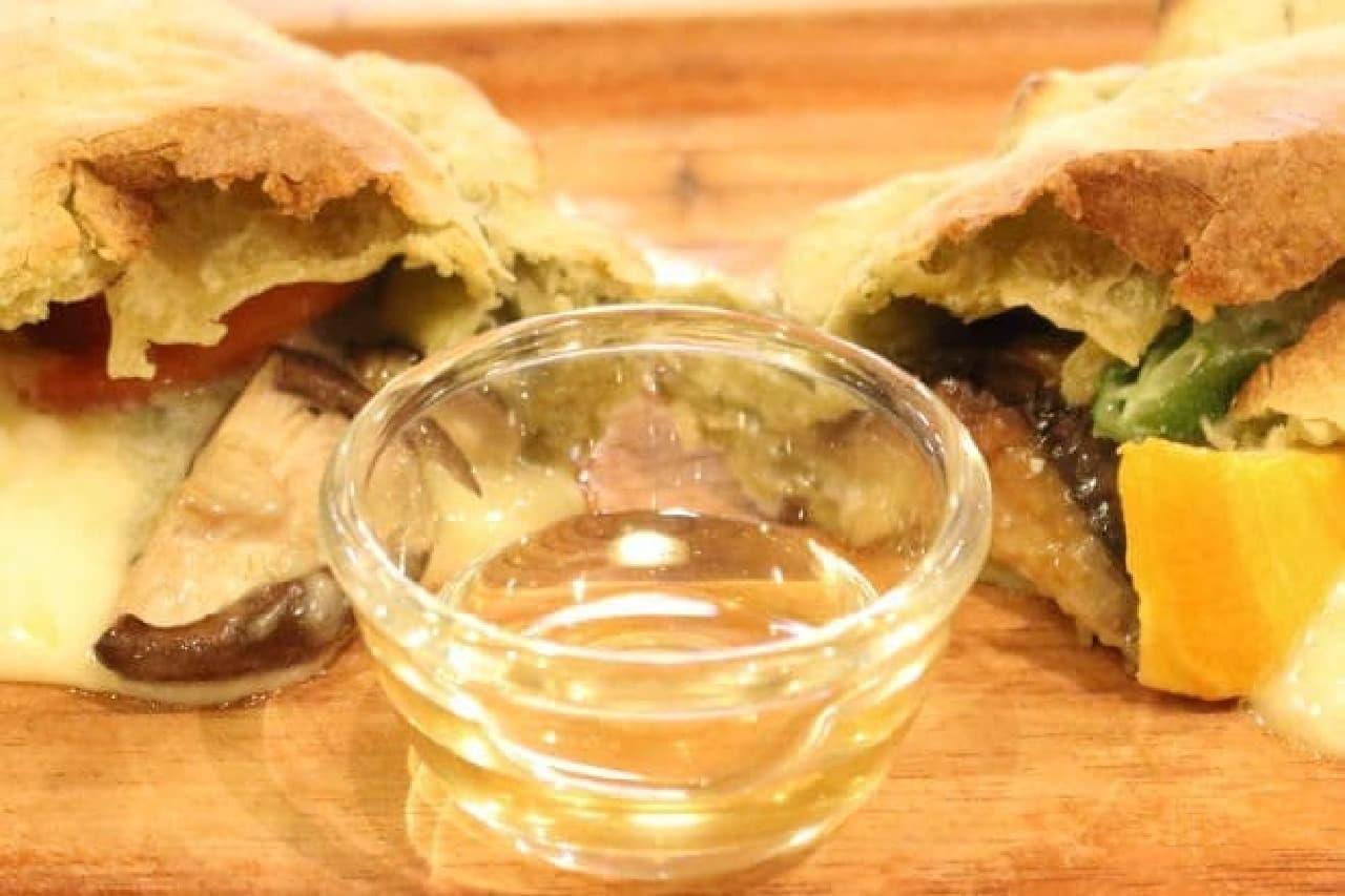 レストランマルタの「包み焼きピッツァ」