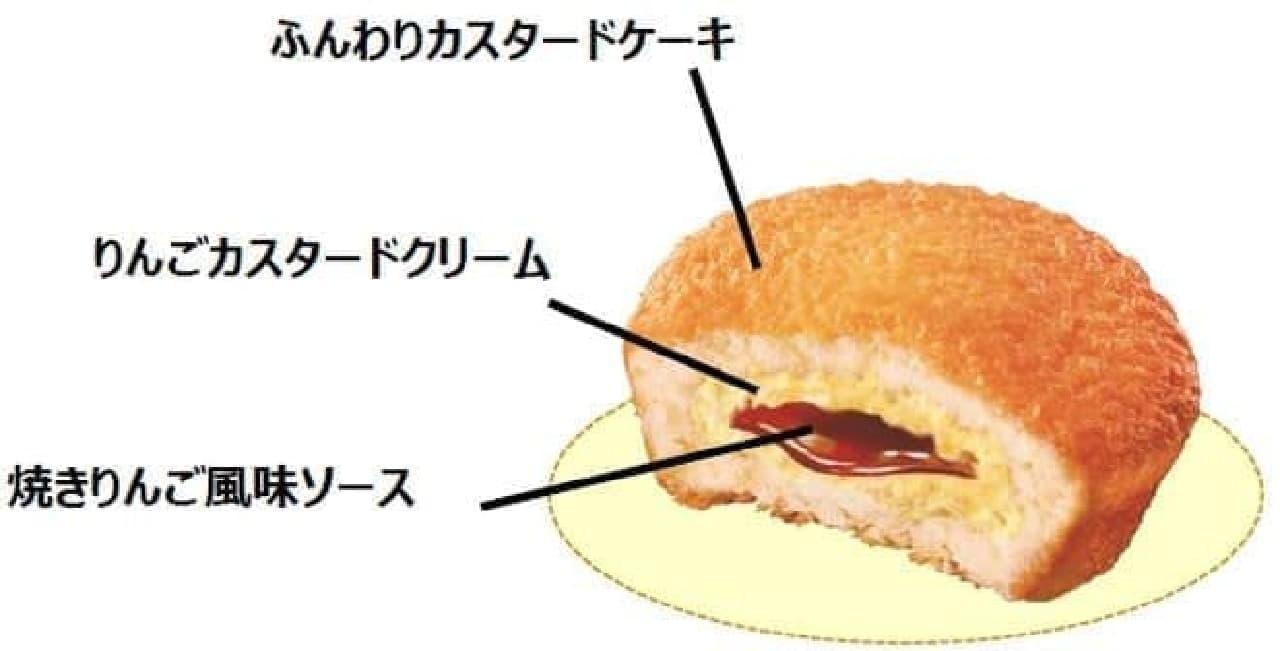 ロッテ「カスタードケーキ<焼きりんご仕立て>」