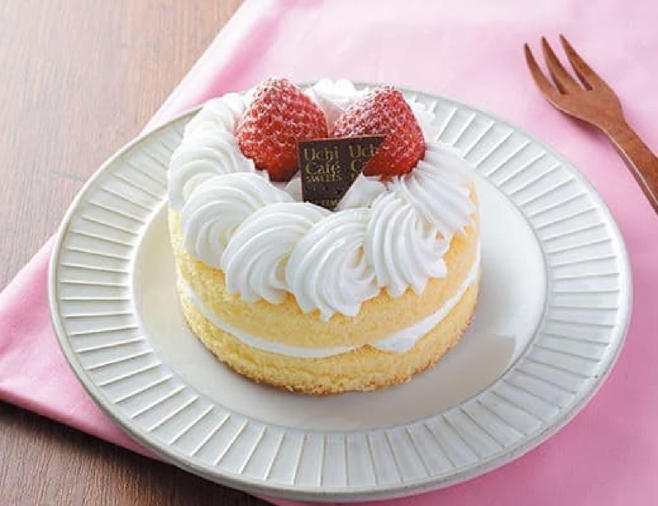 ローソン「苺のミニホールケーキ」