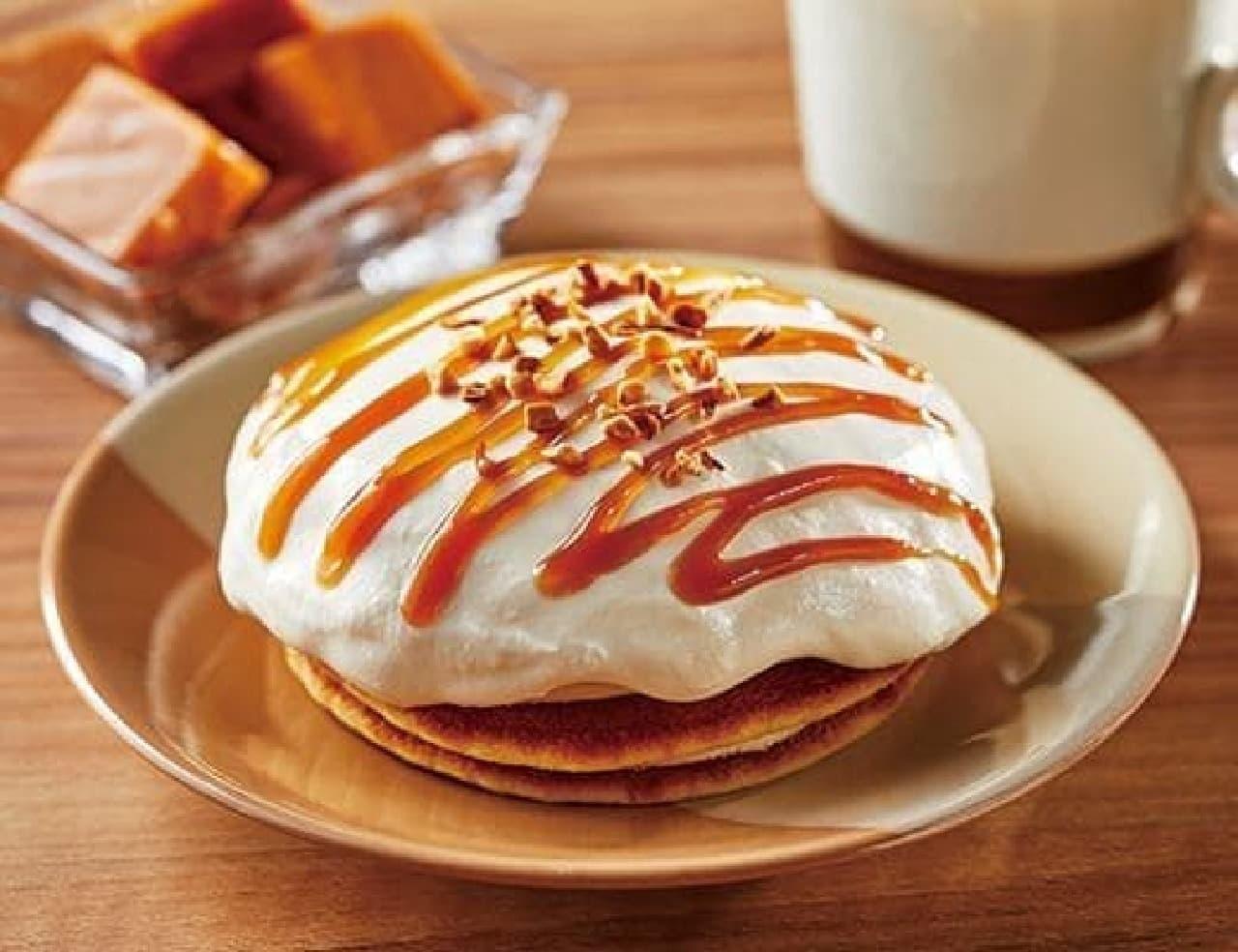 ローソン「キャラメルクリームのパンケーキ」