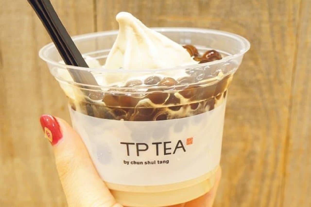 TP TEAの「タピオカミルクティーソフトクリーム」