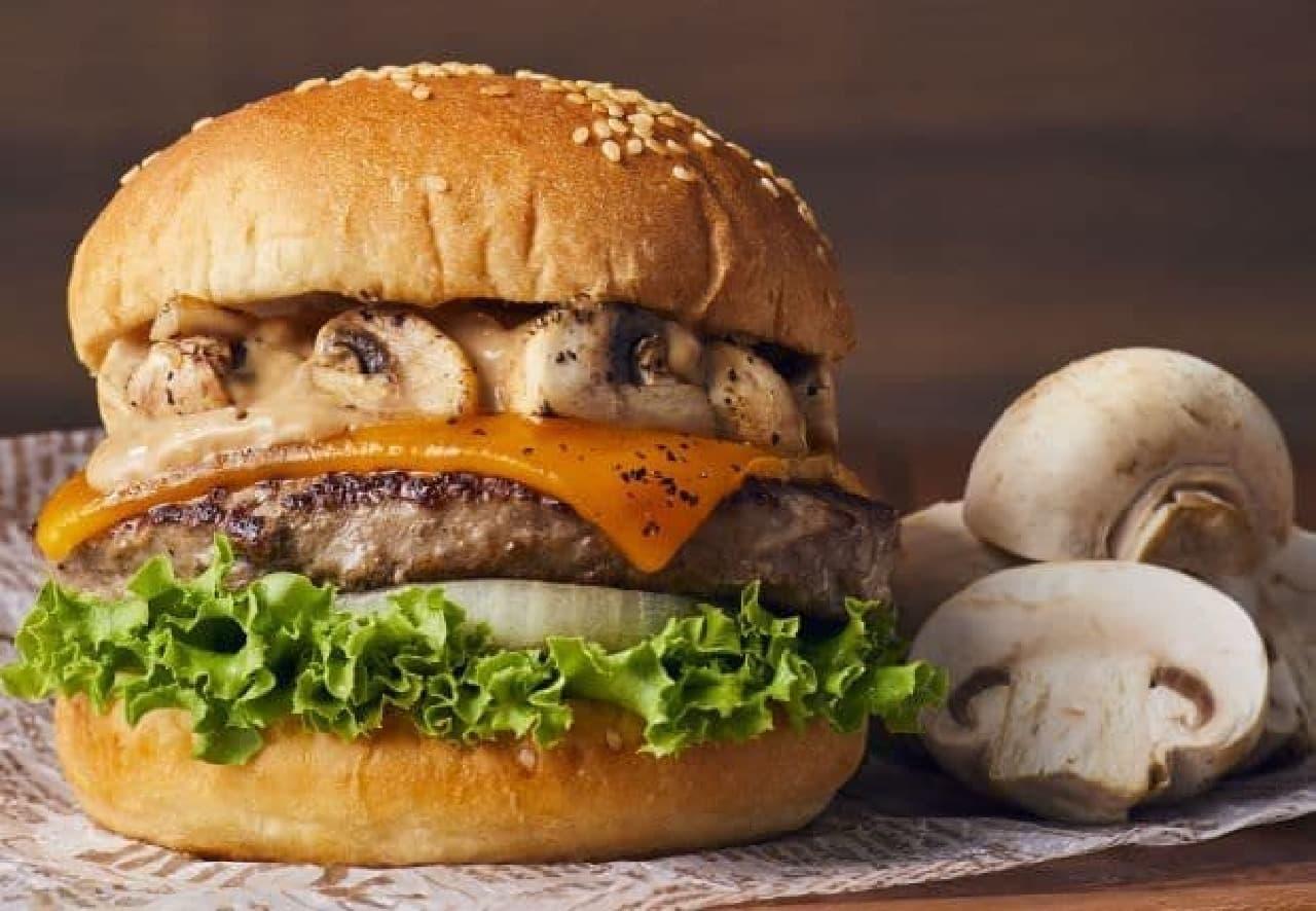 フレッシュネスバーガー「クラシックマッシュルームチーズバーガー」