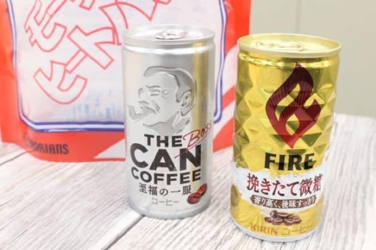 火を使わずに加熱できる「モーリアンヒートパック 加熱セット」で温めた缶コーヒー