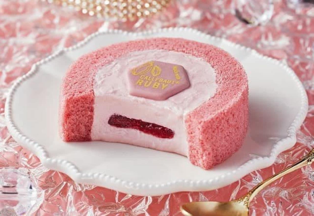 ローソン「Uchi Cafe プレミアム ルビーチョコレートのロールケーキ」