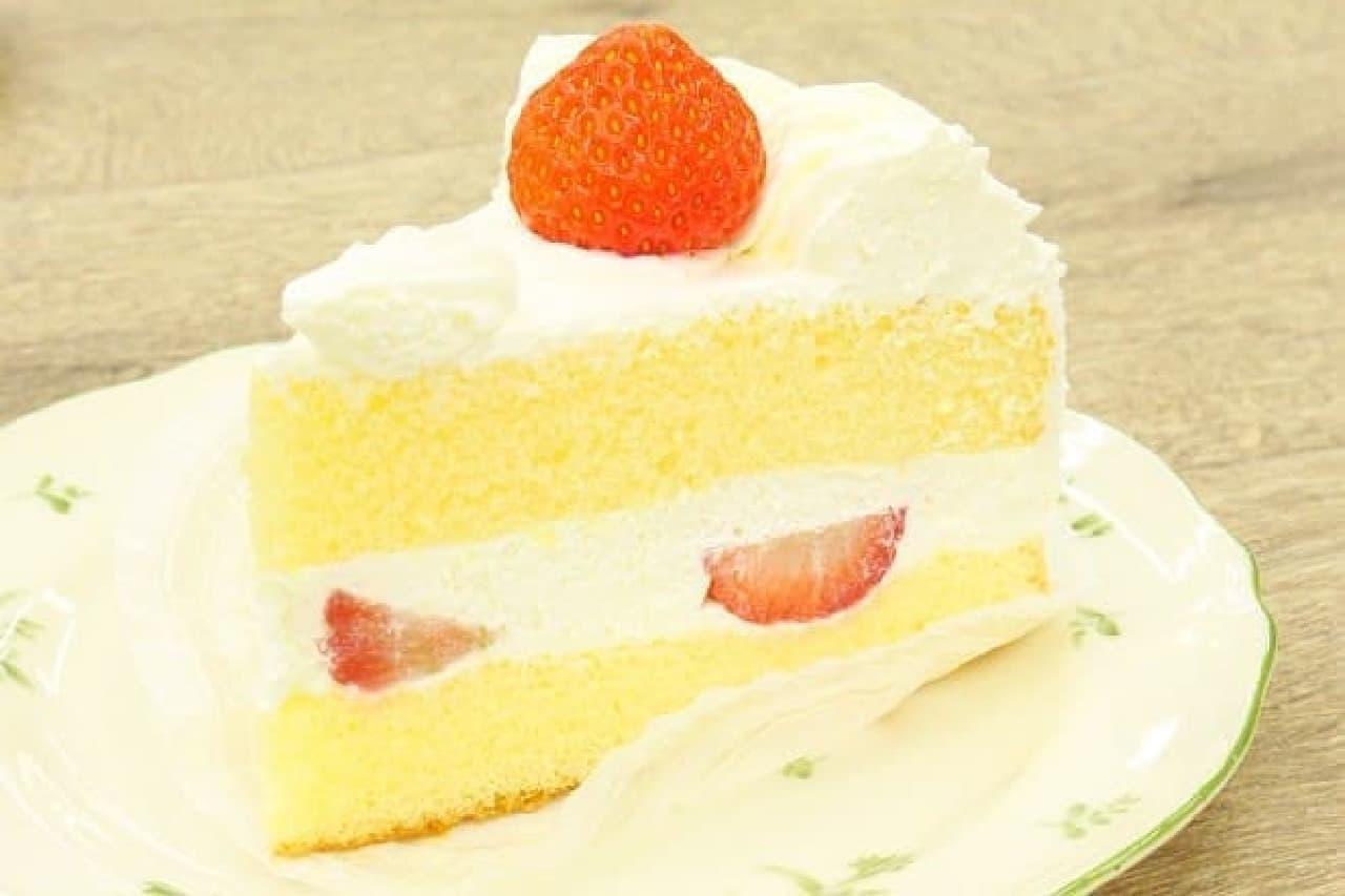 不二家「苺のショートケーキ」