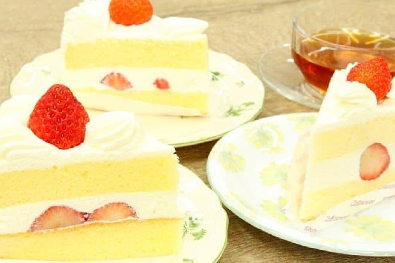 銀座コージーコーナー、不二家、シャトレーゼの「苺のショートケーキ」
