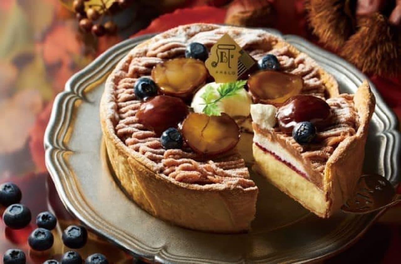 焼きたてチーズタルト専門店PABLO「パブロのチーズタルト‐渋皮マロンとブルーベリーの収穫祭‐」