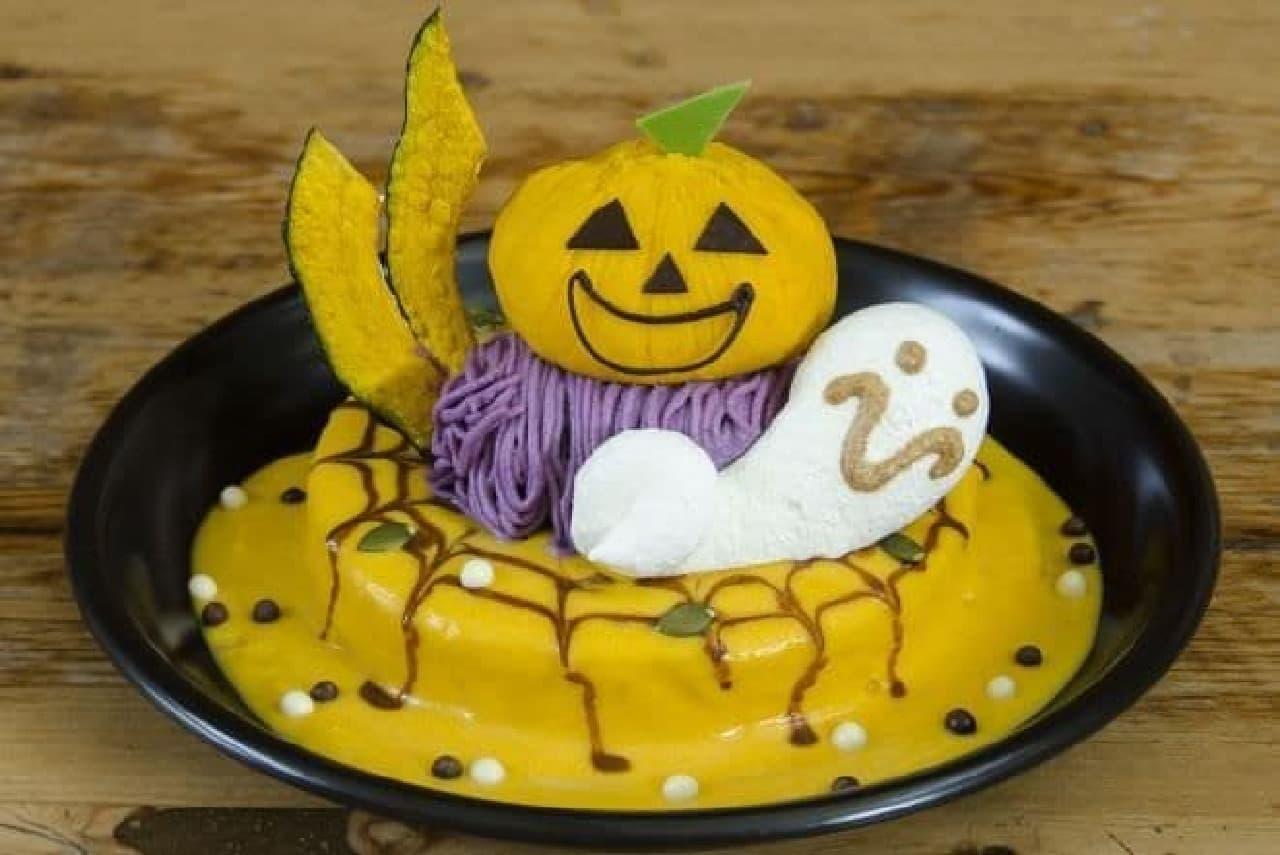 カフェ アクイーユに季節限定「ハロウィンパンケーキ」