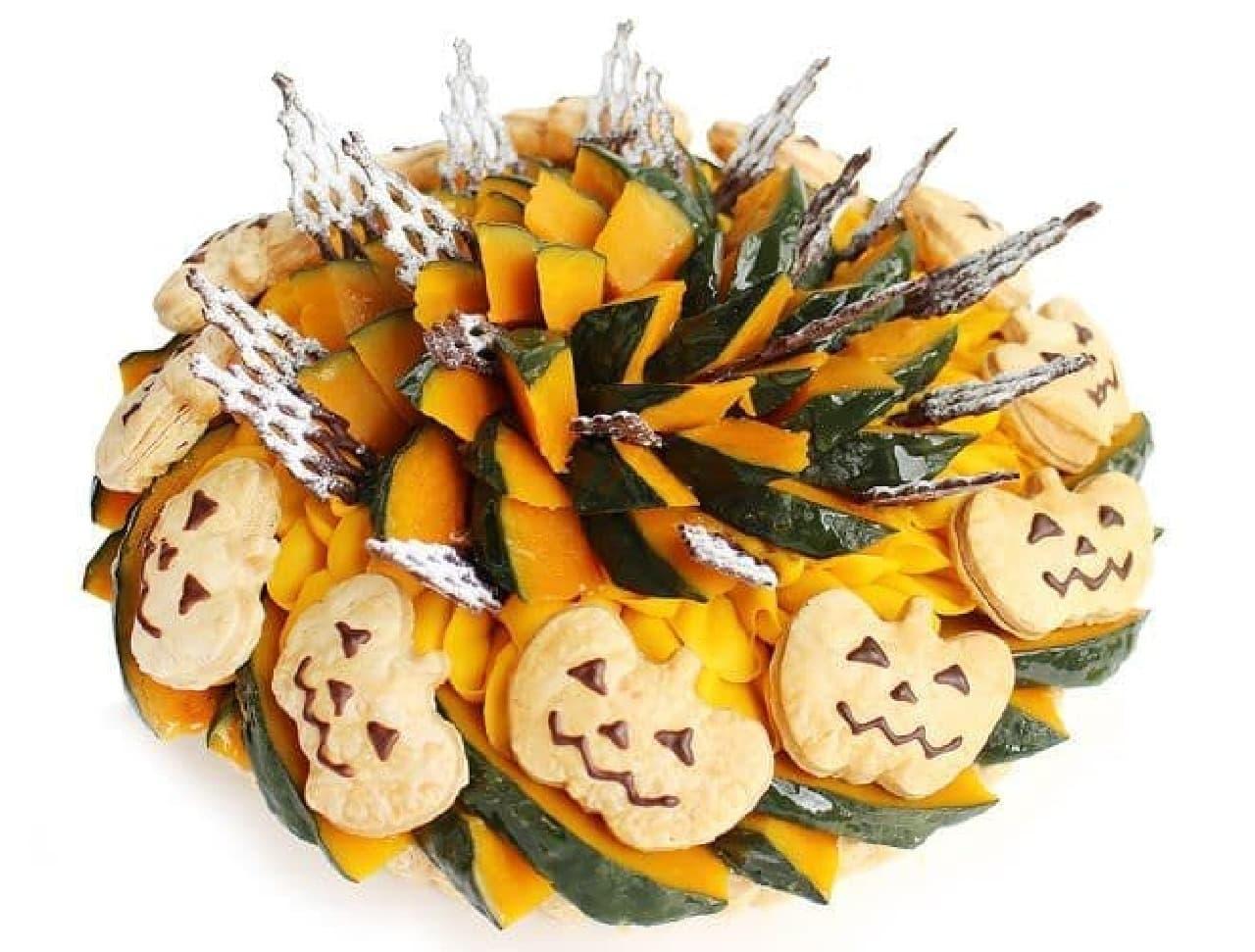 カフェコムサ「ジャックオーランタン~かぼちゃのケーキ~」