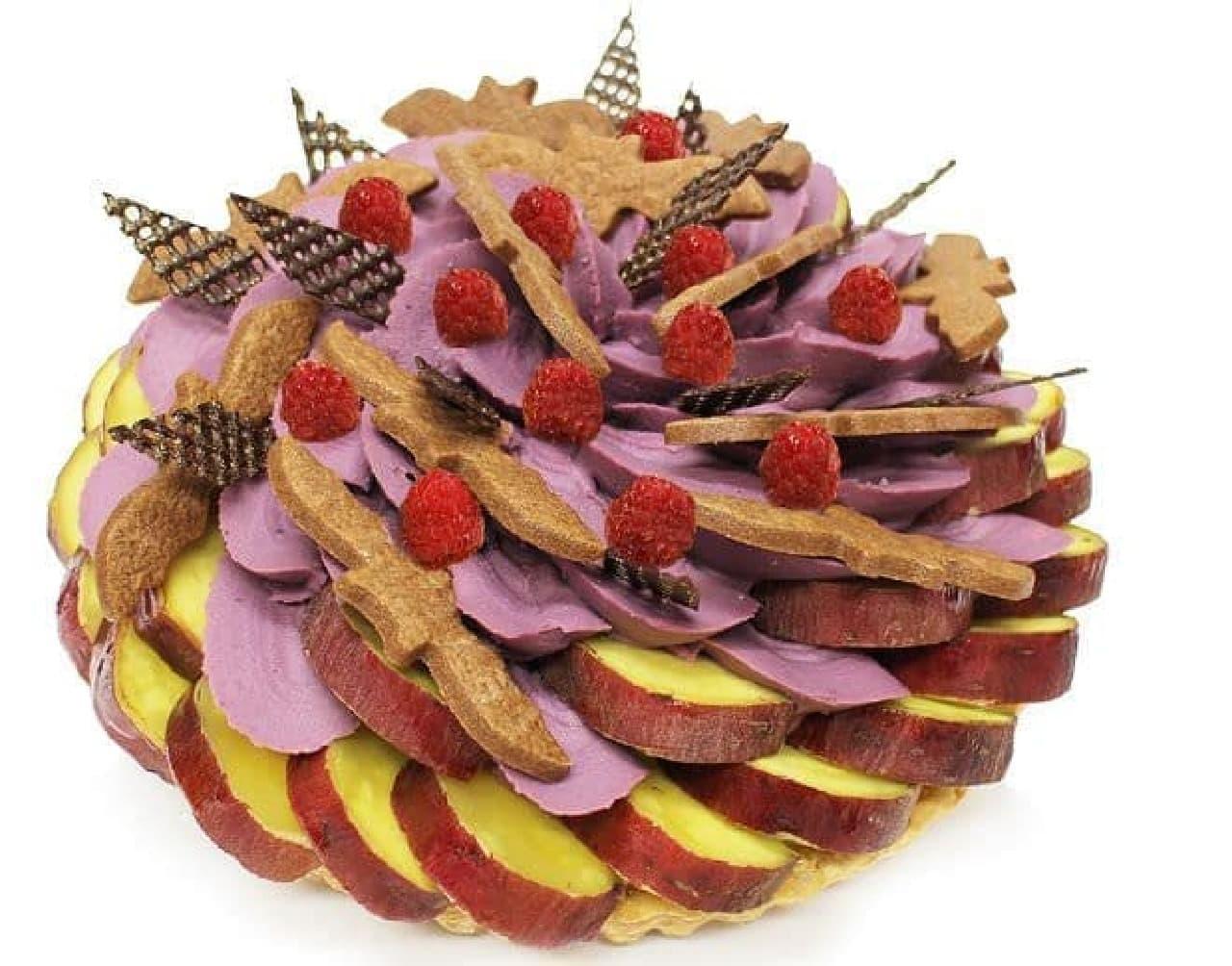 カフェコムサ「ハロウィンゴーストタウン~さつまいもと紫芋クリームのケーキ~」