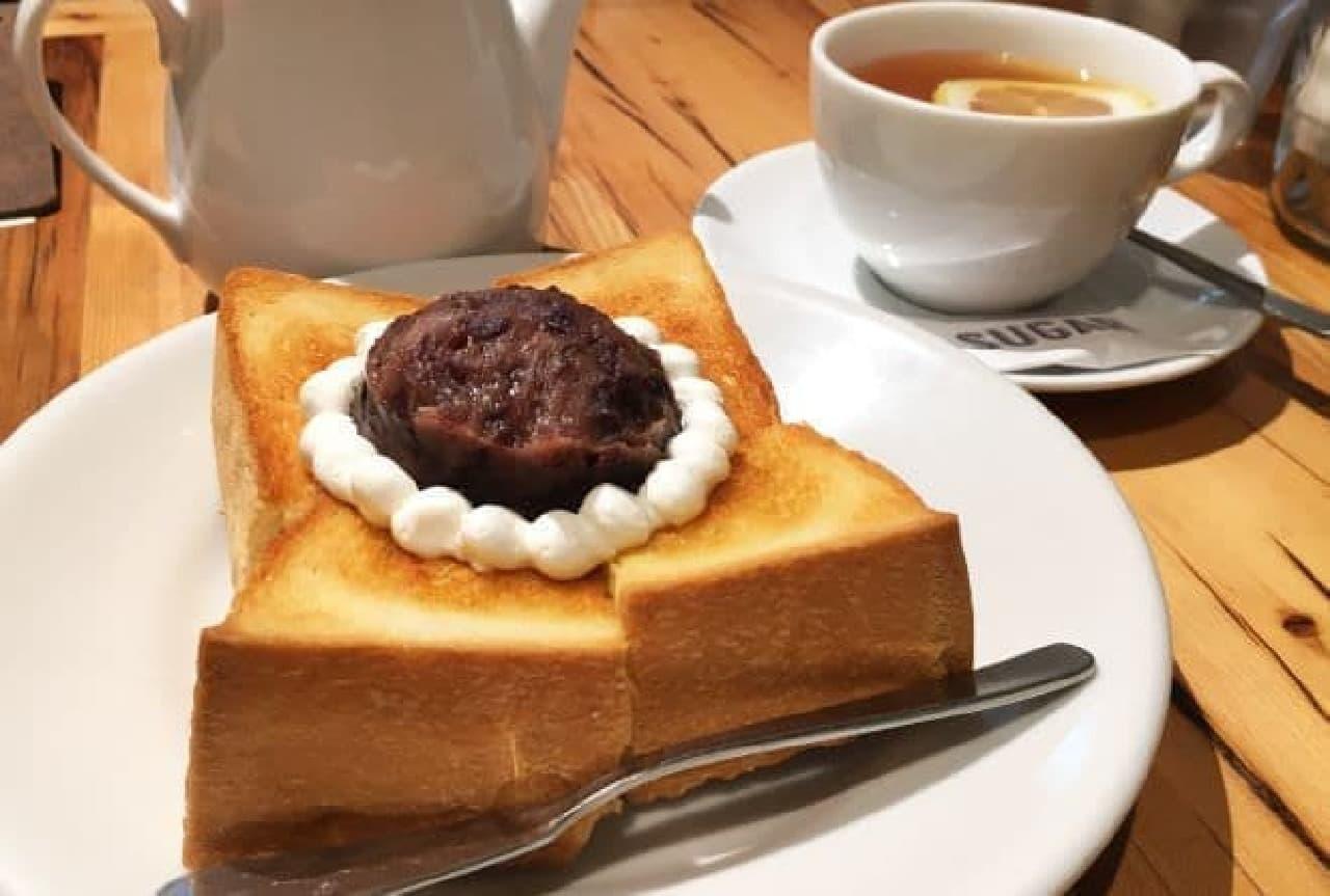 ハウスメイドのモーニング「小倉トーストセット」