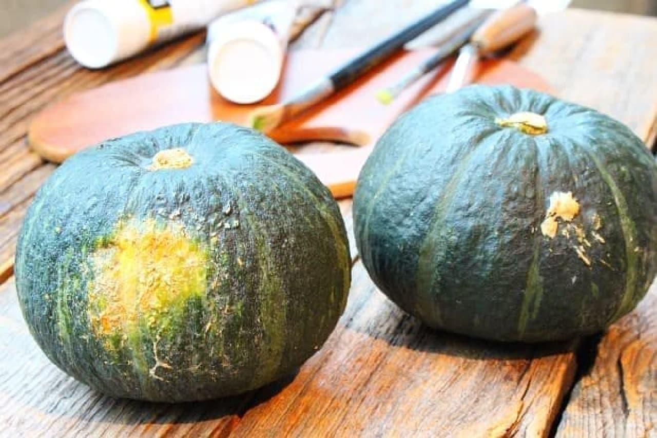 かぼちゃと絵の具