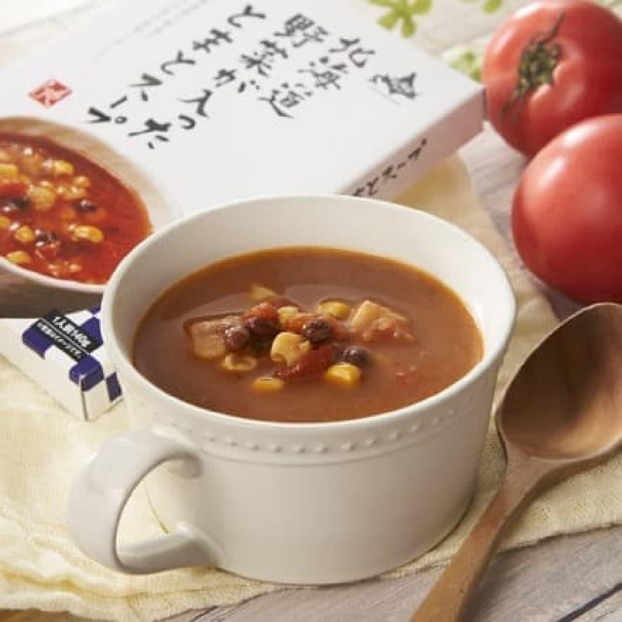 カルディコーヒーファーム「もへじ北海道から 北海道野菜が入ったとまとスープ」