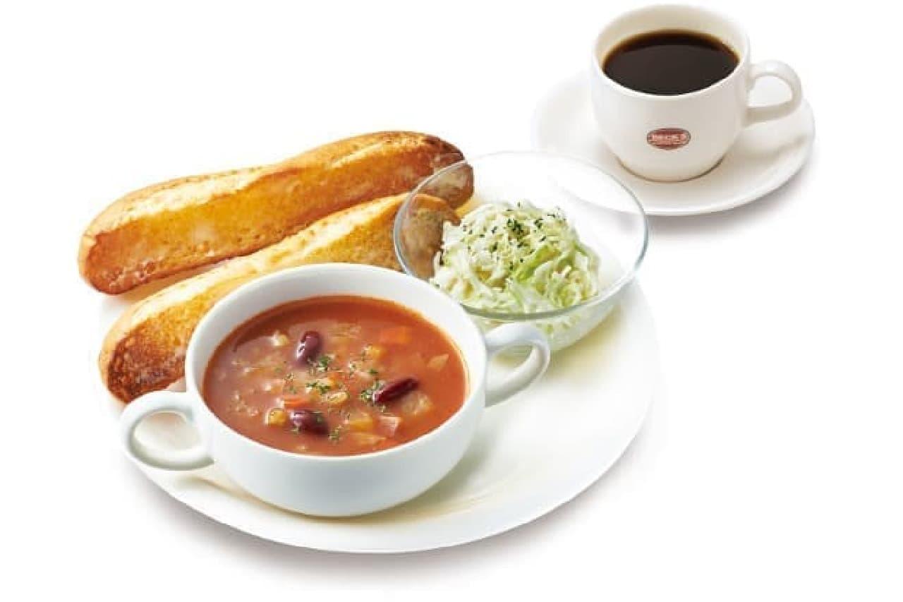 ベックスでワンコイン朝食!―「8種の野菜のミネストローネプレート」など登場