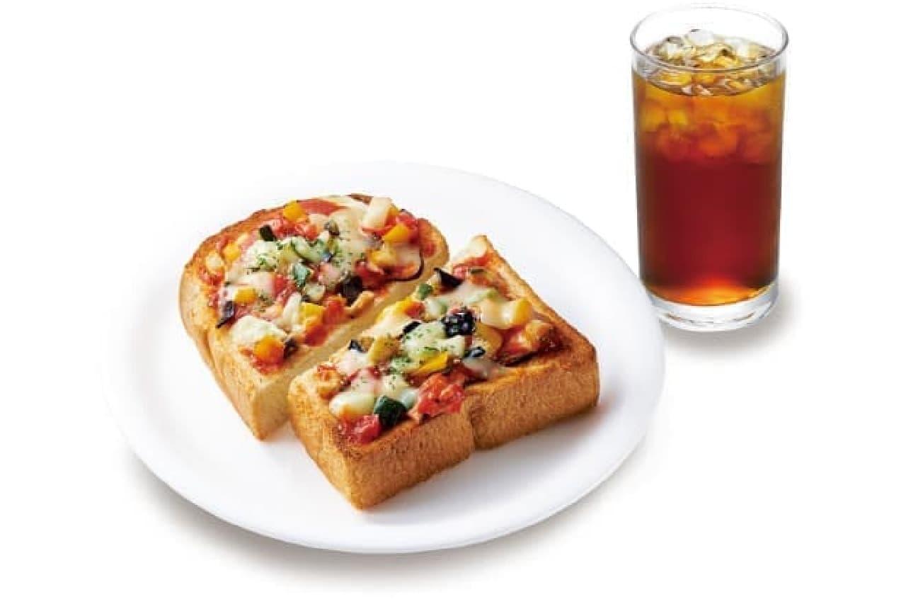 ベックスの「グリル野菜のピザトースト」