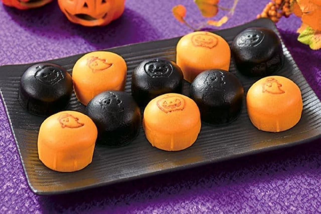 崎陽軒の「ハロウィン限定 黒シウマイまん&かぼちゃまん」