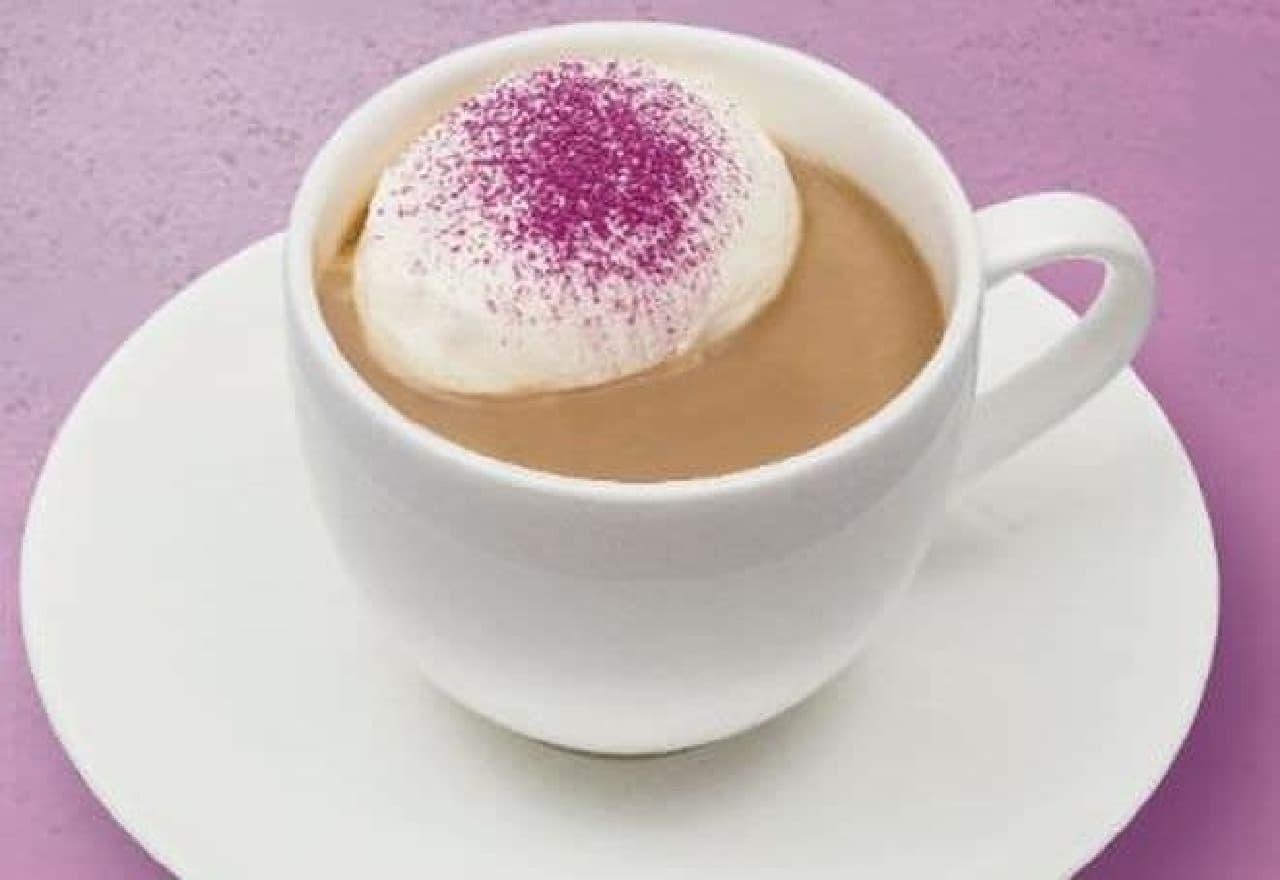 上島珈琲店「紫芋のミルク珈琲 ~あめんどろ使用~」
