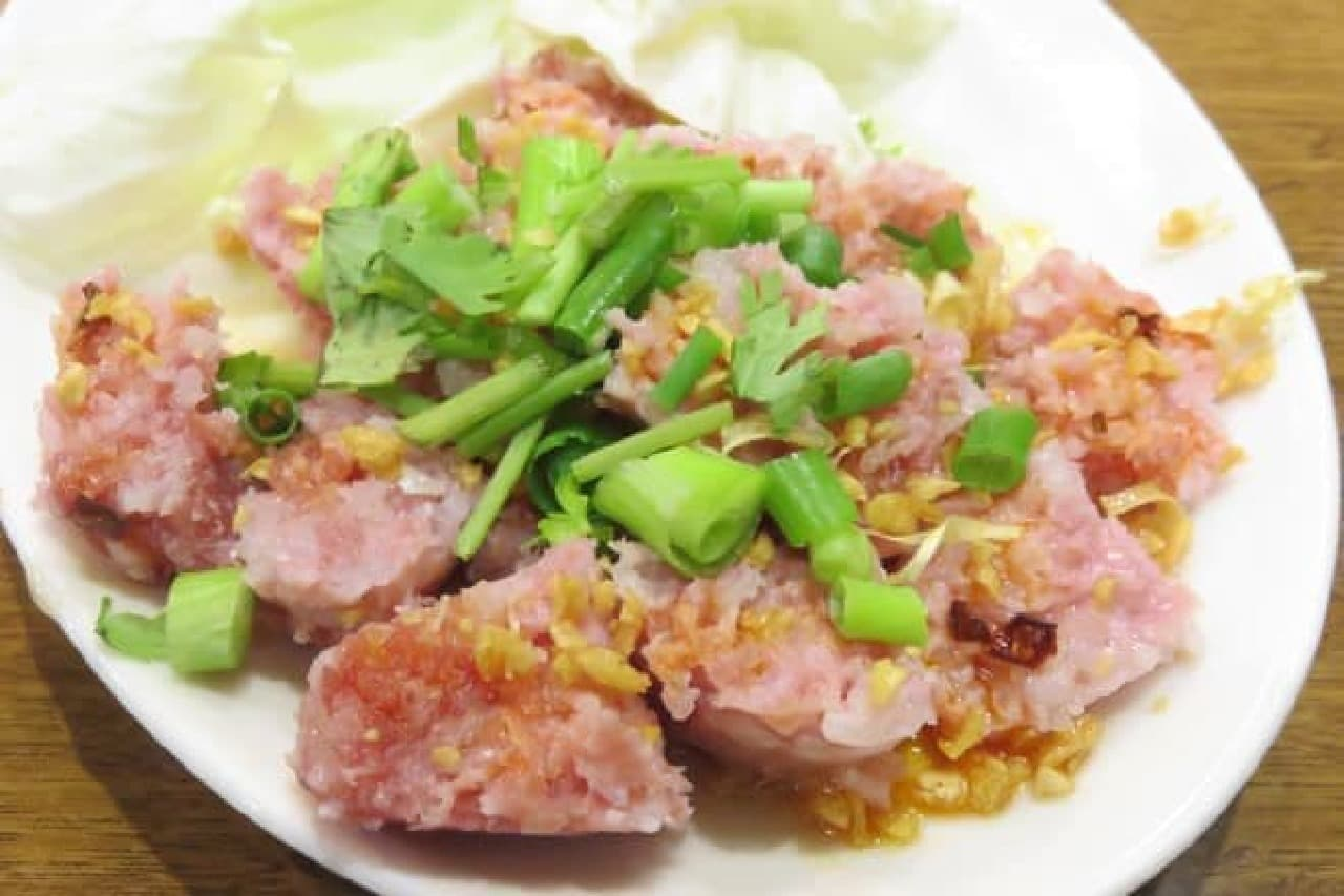 高田馬場「ノング インレイ」のお肉とお米の皮無しソーセージ