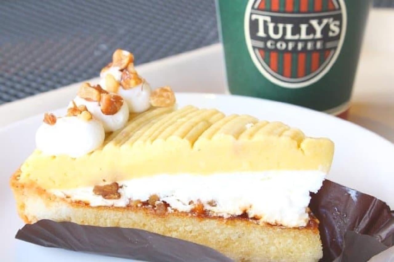 タリーズコーヒー「安納芋と胡桃のタルト」