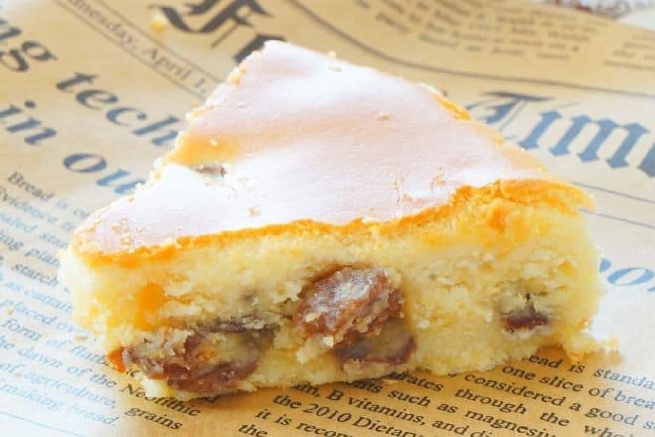 チーズガーデン阪急うめだ店の「ラムレーズンチーズケーキ」