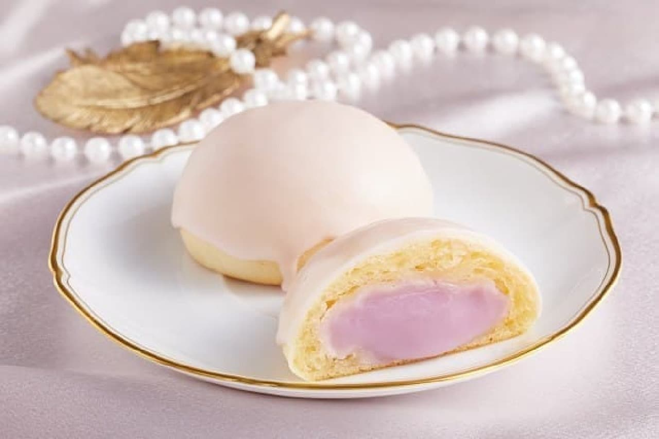 ローソン「Uchi Cafe 天使のもちぷよ(むらさきいも)」