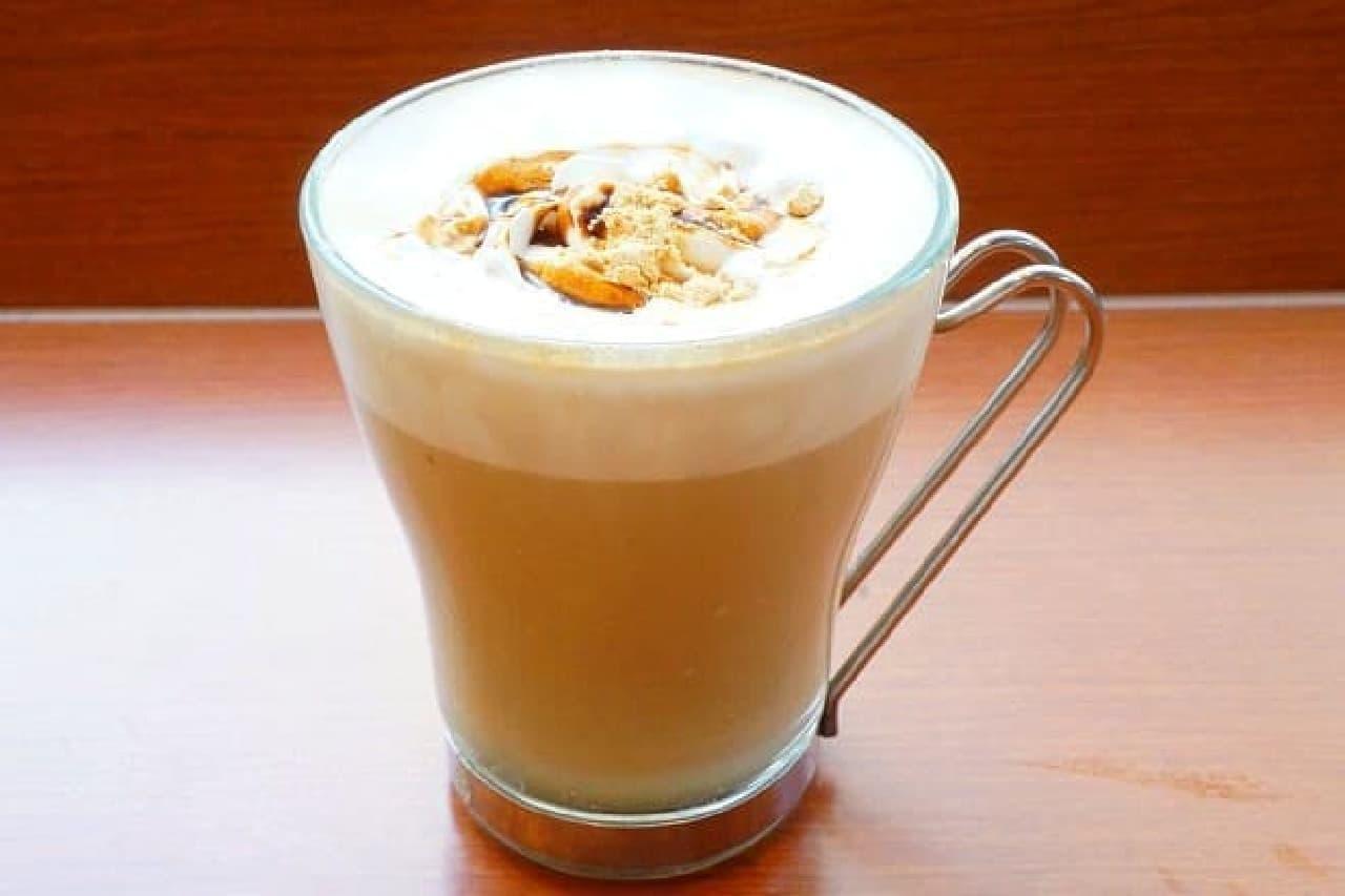 カフェ・ド・クリエの「黒糖きなこラテ」