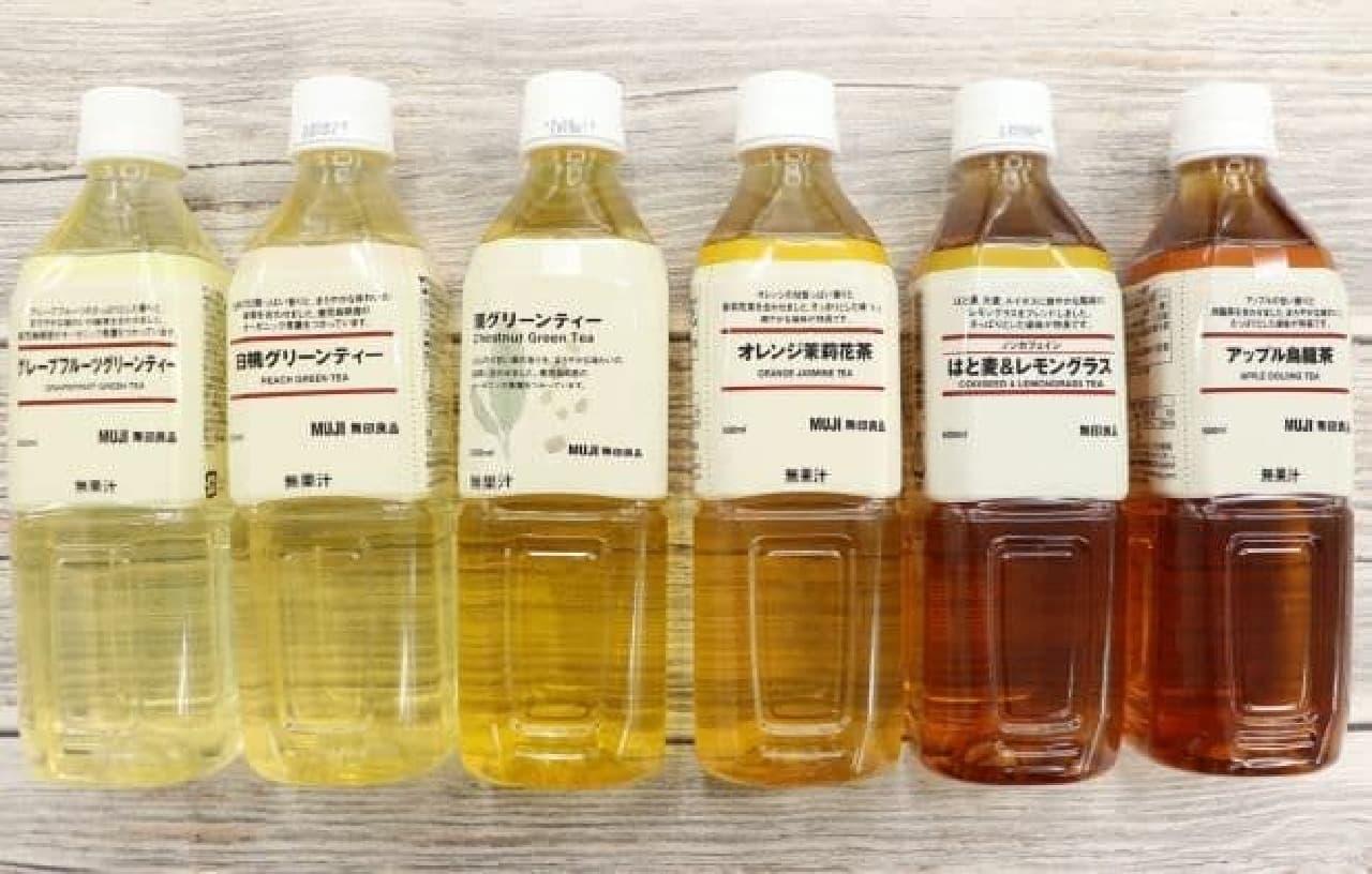 無印良品のボトル飲料6種類