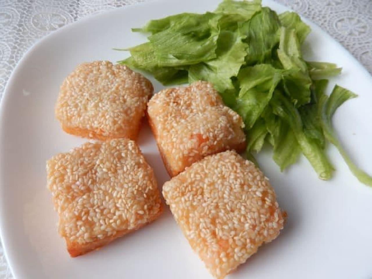 カルディ冷凍「シュリンプトースト」