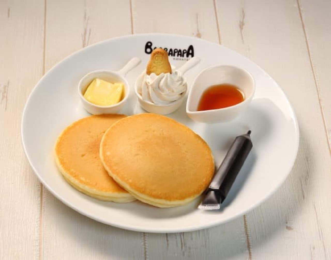 カフェバーバパパの「お絵かきパンケーキ」