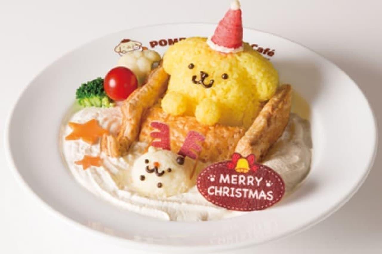 ポムポムプリンカフェの「プレゼントを届けるよ♪ふわ雪クリームシチュー」