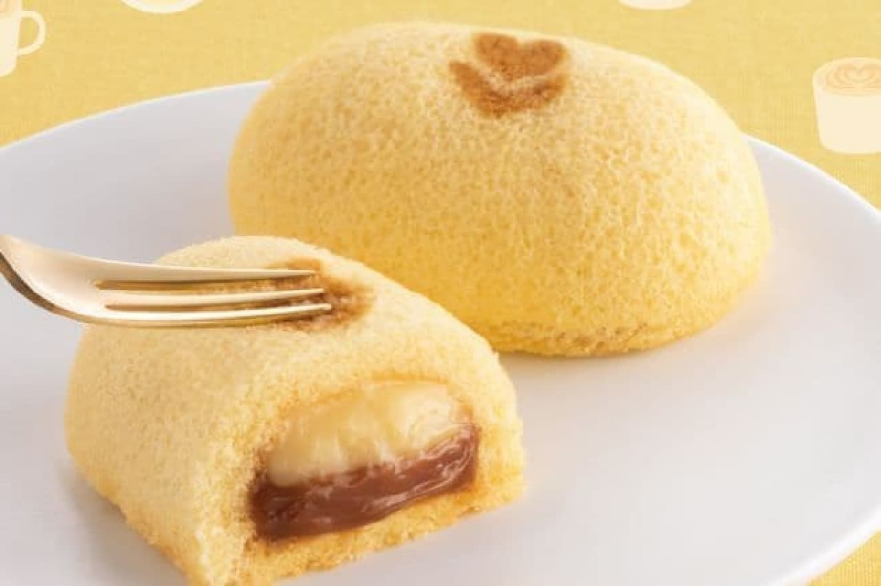 東京ばな奈ワールド「『銀座のキャラメルラテケーキ』です。」