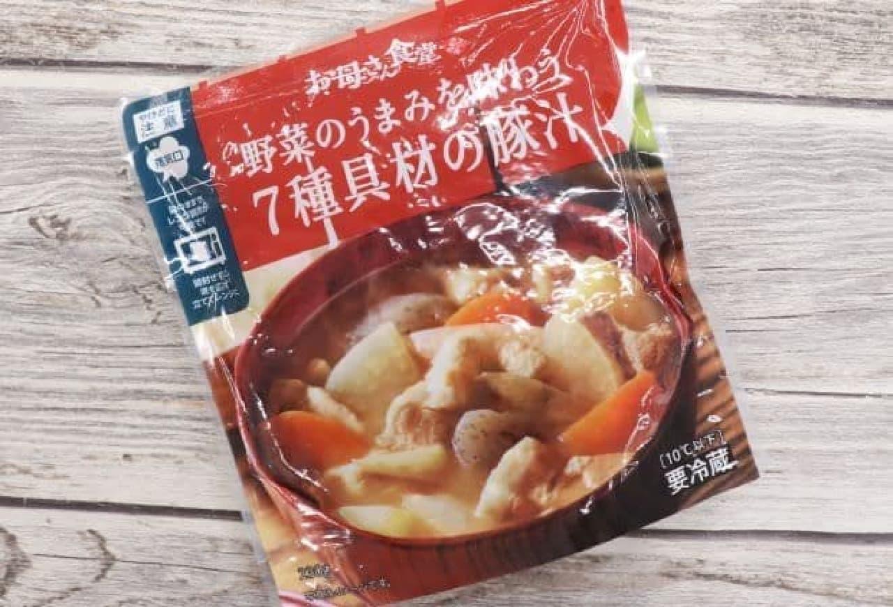ファミマ「野菜のうまみを味わう 7種具材の豚汁」