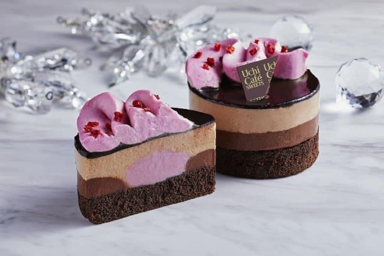 ローソン「Uchi Cafe ルビーチョコレートのショコラケーキ」
