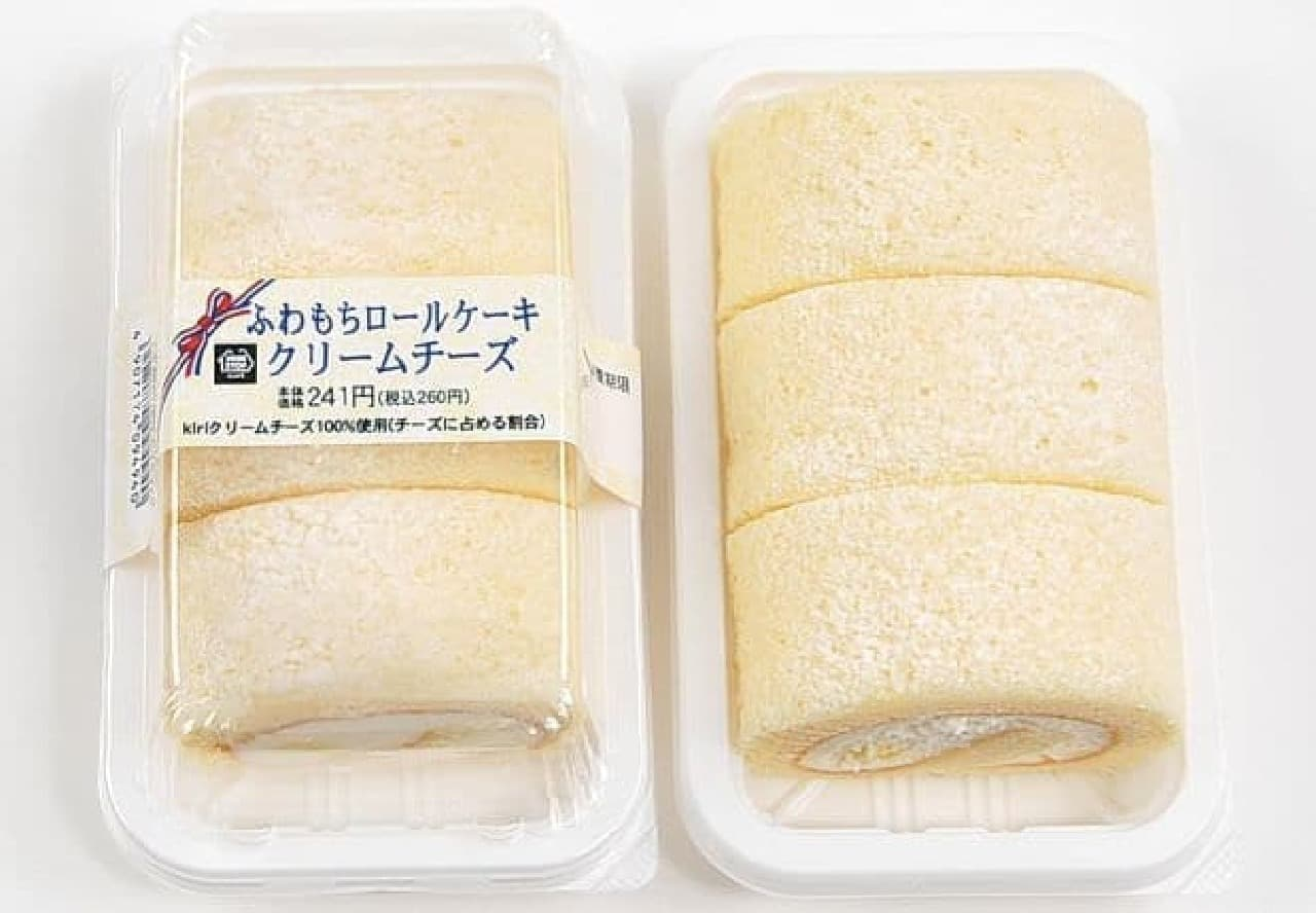 ミニストップ「ふわもちロールケーキ クリームチーズ」