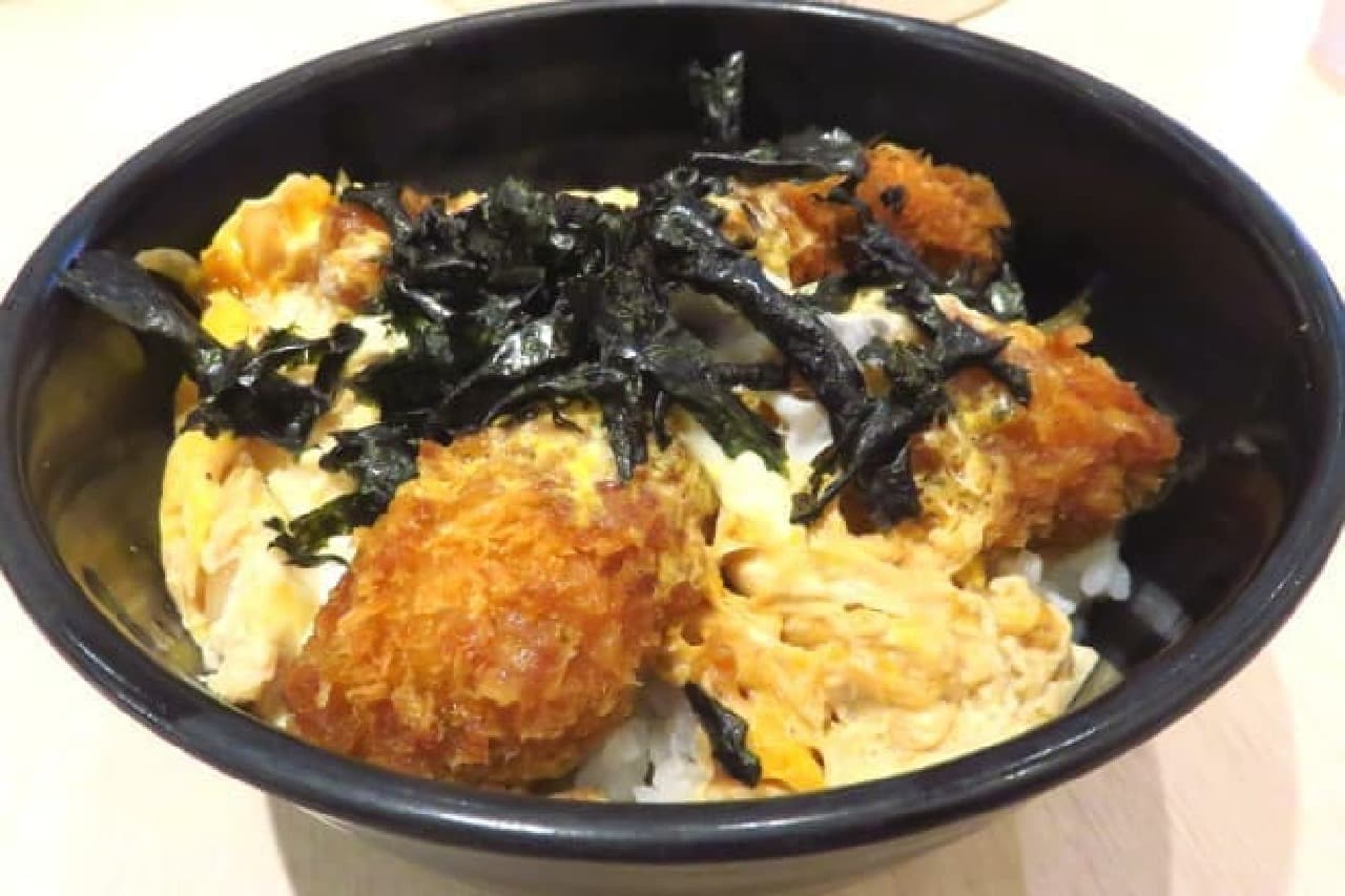 松のやの「カキフライとじ丼」