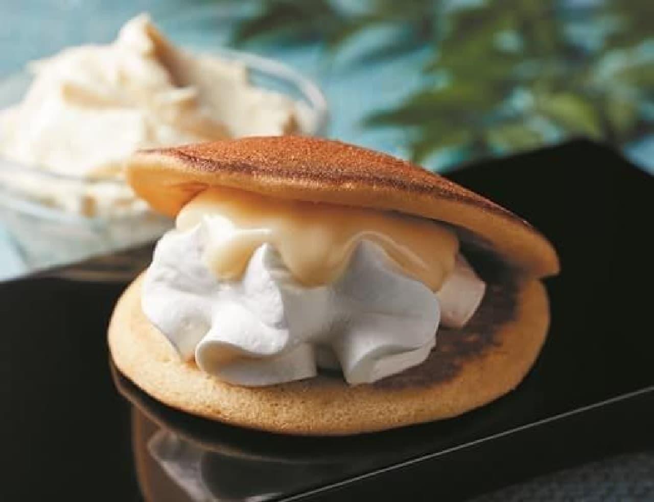 ローソン「チーズとチーズホイップの生どら焼」