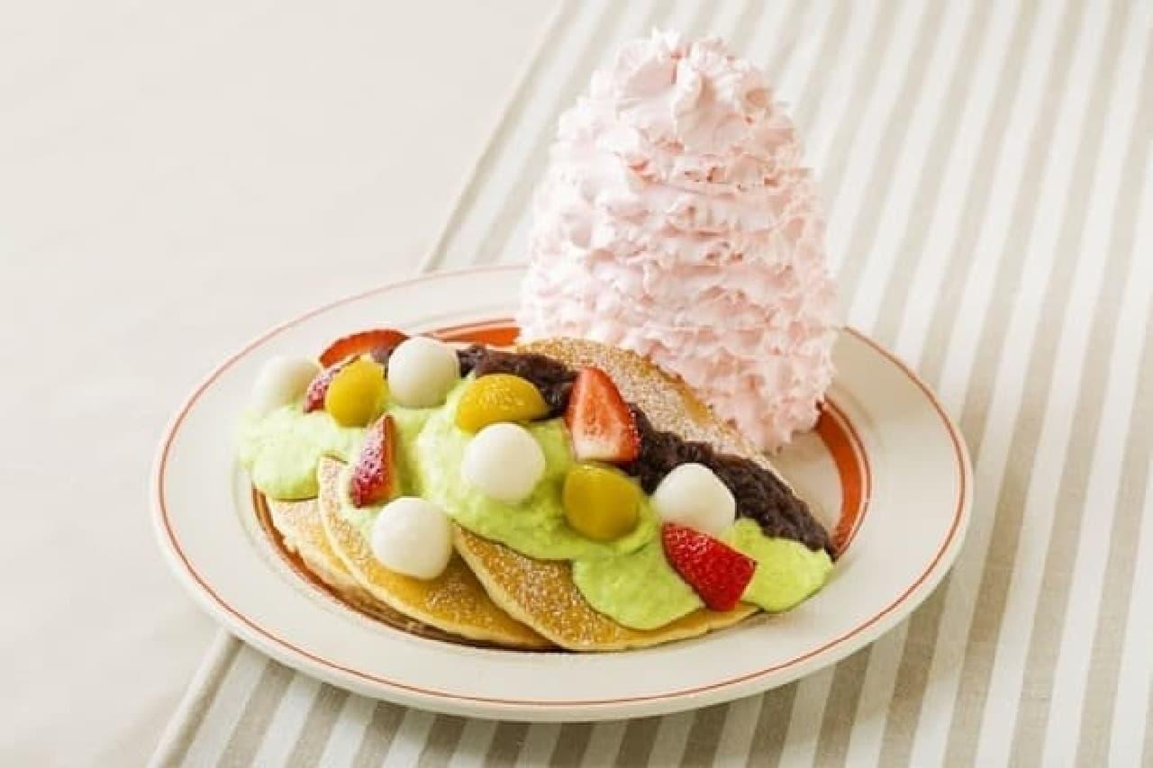 エッグスンシングス仙台店「ずんだパンケーキ」