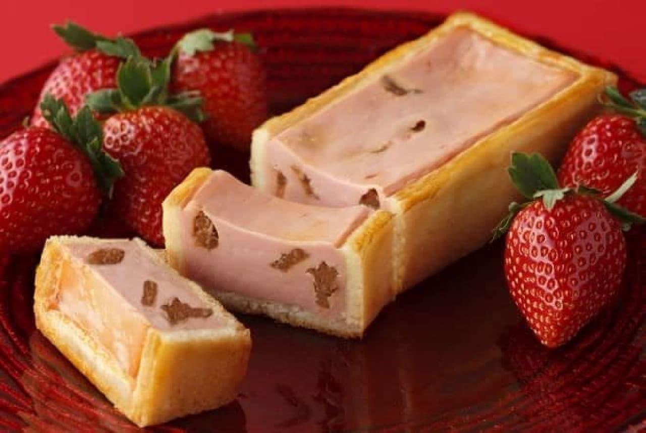 資生堂パーラー「冬の手焼きチーズケーキ(いちご)」