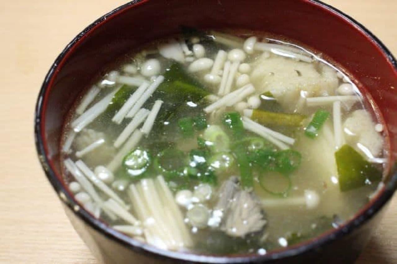 サバ缶で作る「お味噌汁」