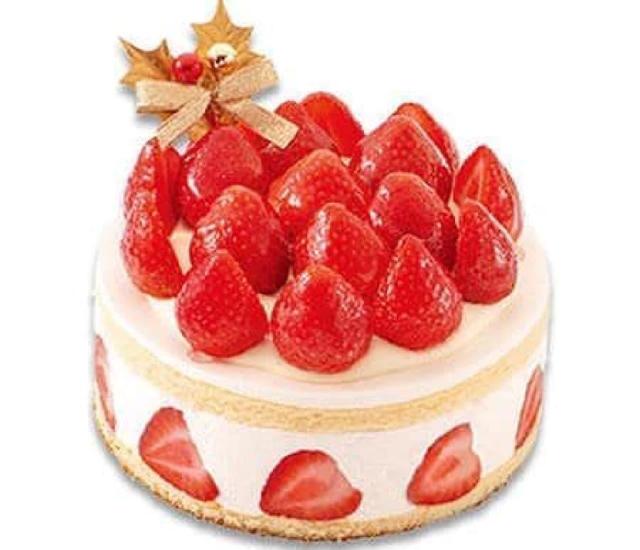 不二家「あまおう苺たっぷりの贅沢クリスマスショートケーキ」